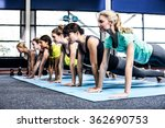 fit women doing plank exercises ... | Shutterstock . vector #362690753