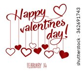 happy valentines day greeting... | Shutterstock .eps vector #362691743