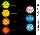 chakras icons . concept of... | Shutterstock .eps vector #362693948