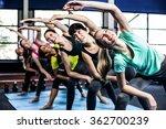 fitness class doing exercises...   Shutterstock . vector #362700239