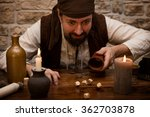 a pirate is gambling with dice... | Shutterstock . vector #362703878