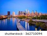 downtown  philadelphia skyline...   Shutterstock . vector #362710094