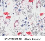 Hand Drawn Watercolor Floral...