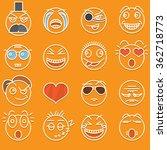 funny s set of smiles | Shutterstock .eps vector #362718773