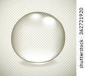transparent drop with shadow...   Shutterstock . vector #362721920