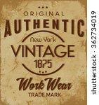 authentic vector  t shirt... | Shutterstock .eps vector #362734019