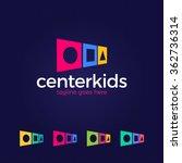 kids logo collection. vector... | Shutterstock .eps vector #362736314