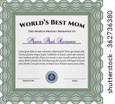 world's best mom award template.... | Shutterstock .eps vector #362736380
