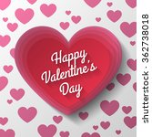 red heart valentines day | Shutterstock .eps vector #362738018