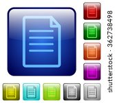 set of document color glass...