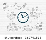 timeline concept  clock on wall ... | Shutterstock . vector #362741516