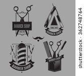 vector set of logos on the... | Shutterstock .eps vector #362748764