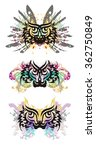 tribal eyes splashes. grunge... | Shutterstock .eps vector #362750849