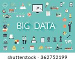the word big data surrounding... | Shutterstock .eps vector #362752199