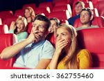 happy friends watching horror... | Shutterstock . vector #362755460