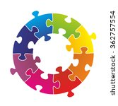 puzzle pieces arranged as a...   Shutterstock . vector #362757554