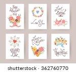 set of valentines day vintage...   Shutterstock .eps vector #362760770