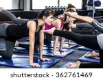 fit smiling group doing... | Shutterstock . vector #362761469