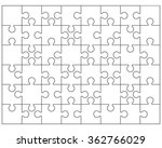 white puzzle  vector... | Shutterstock .eps vector #362766029