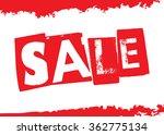 sale design template. vector... | Shutterstock .eps vector #362775134