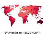 world map vintage artwork  ... | Shutterstock . vector #362776544