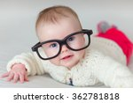 little baby with big glasses | Shutterstock . vector #362781818