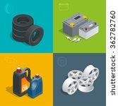 tire service car auto  repair... | Shutterstock .eps vector #362782760