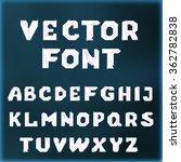 vector crystal font. stock... | Shutterstock .eps vector #362782838