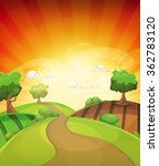cartoon country background in... | Shutterstock .eps vector #362783120