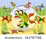 scary fish in an aquarium at... | Shutterstock .eps vector #362787788