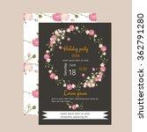 floral carnation retro vintage... | Shutterstock .eps vector #362791280