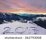 2017 on snow at mountains | Shutterstock . vector #362793008