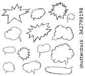 set doodle shapes for message.... | Shutterstock .eps vector #362798198