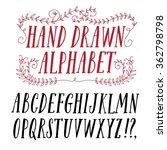 hand drawn brush ink vector abc ...   Shutterstock .eps vector #362798798