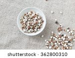 the  white porcelain plate with ... | Shutterstock . vector #362800310