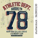 college new york typography  t... | Shutterstock .eps vector #362803130