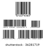 Bar code pack vector - stock vector