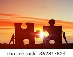 cooperate for successful work | Shutterstock . vector #362817824