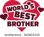 world's best brother with hearts | Shutterstock .eps vector #362823110