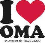 i love my grandma german | Shutterstock .eps vector #362823200