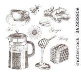 vector vintage hand drawn set...   Shutterstock .eps vector #362838806