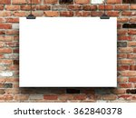 blank poster frame with clips... | Shutterstock . vector #362840378