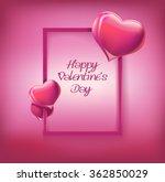 happy valentine's day lettering ... | Shutterstock .eps vector #362850029