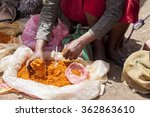 hands of woman selling spices... | Shutterstock . vector #362863610