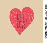 romantic card | Shutterstock .eps vector #362864108