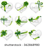 set of beautiful heart shaped... | Shutterstock .eps vector #362868980