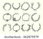 hand drawn wreath set made in... | Shutterstock .eps vector #362875979