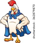 cartoon super chicken. vector... | Shutterstock .eps vector #362879870