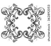decorative floral frame with... | Shutterstock .eps vector #362892053