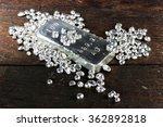 silver ingot and granules on... | Shutterstock . vector #362892818